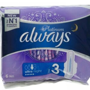 ALWAYS ABSORBANTE 6BUC PLATINUM ULTRA NIGHT